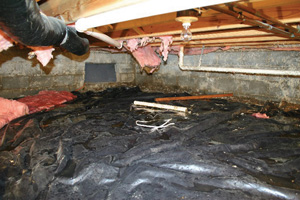 Crawl Space Repair Before in Jackson
