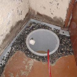 Installing a sump in a sump pump liner in a Brandon home