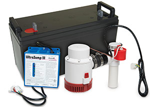 a battery backup sump pump system in Yazoo City