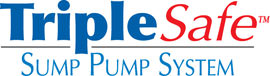 Sump pump system logo for our TripleSafe™, available in areas like Wesson